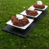 Fondant chocolat praliné et mousse coco