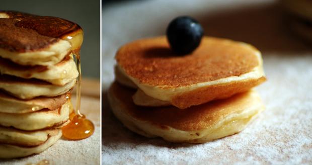 blinis au miel ou sirop d'érable
